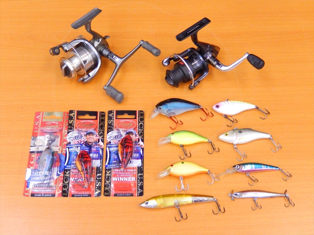 1 jpy ~ spinning reel ×2 point lure 11 point together SHIMANO TWIN