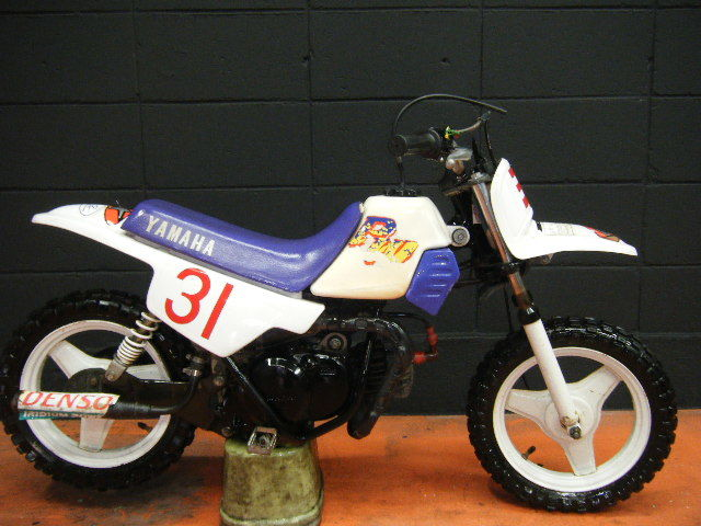 ヤマハ PW50 3PT YAMAHA エンジン実働 ポケバイ 公道走行不可 スタンドなし キッズバイク モトクロス 2スト 大阪より 売り切り
