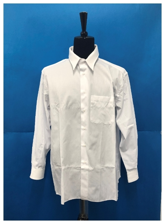 1円スタート!ブリオーニ ヴェトモン ストライプシャツ M ホワイト Brioni VETEMENTS 17SS 2 白 アシンメトリー カットデザイン 美品