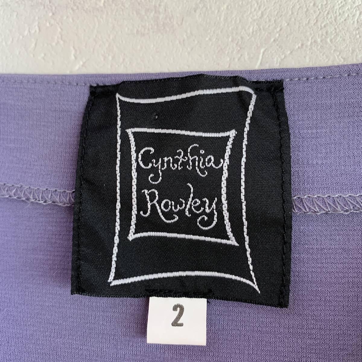 シンシアローリー Cynthia Rowley サイズ 2 ☆ 日本製 コットン100% 肩リボン ☆ 可愛い ワンピース / パープル_画像3