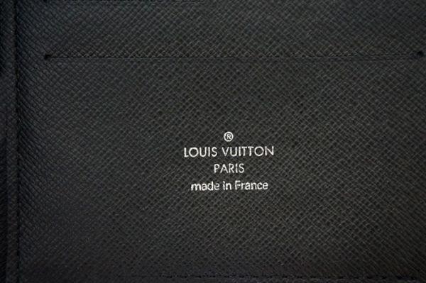 【新品同様】ルイヴィトン Louis Vuitton タイガ アトール オーガナイザー トラベルケース 長財布 アルドワーズ 黒 メンズ 定価約14万_画像10