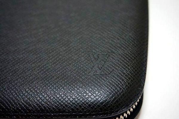 【新品同様】ルイヴィトン Louis Vuitton タイガ アトール オーガナイザー トラベルケース 長財布 アルドワーズ 黒 メンズ 定価約14万_画像7