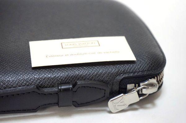 【新品同様】ルイヴィトン Louis Vuitton タイガ アトール オーガナイザー トラベルケース 長財布 アルドワーズ 黒 メンズ 定価約14万_画像8