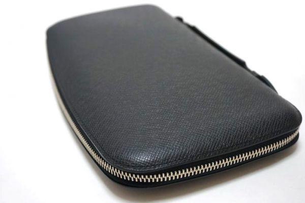 【新品同様】ルイヴィトン Louis Vuitton タイガ アトール オーガナイザー トラベルケース 長財布 アルドワーズ 黒 メンズ 定価約14万_画像6