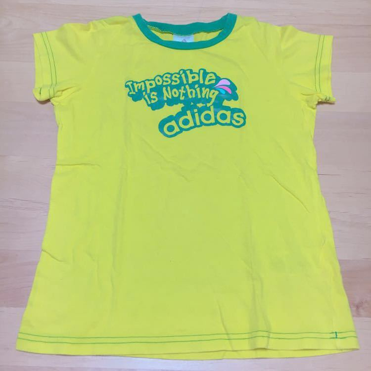 ■ adidas ■ short-sleeved T-shirt (150) ★ yellow ★ yellow ★ men and women either ★ boy ★ ★ girl tops ★ Sports ★ Kids ★ adidas ★