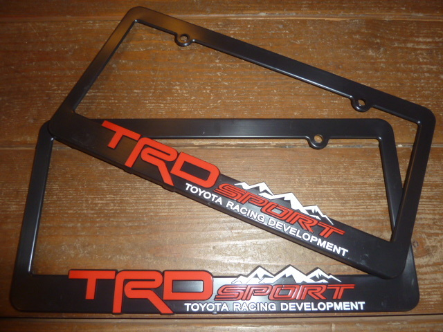 TRD ロゴ 直輸入 トヨタ 北米 US USDM ナンバーフレーム ライセンスフレーム タコマ タンドラ ハイラックス 125 185 プラド サーフ FJ 3_希少TRD(OEM)某WEBサイトより直輸入品!