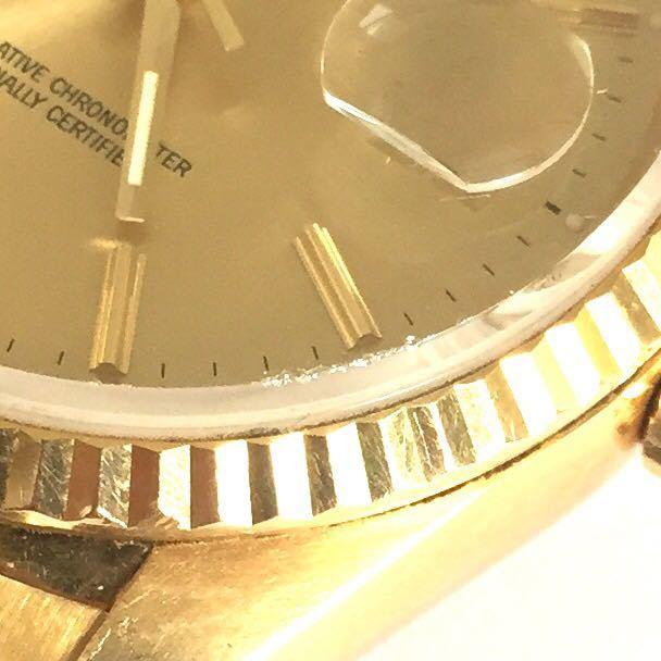 【ROLEX】ロレックス デイトジャスト 16238 K18YG イエローゴールド 18金 金無垢 自動巻腕時計 メンズ E番 1990~1991年 直接取引値下可_画像10