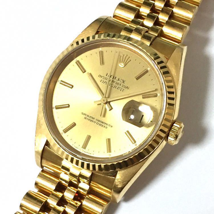 huge discount 8b95f 3491d 【ROLEX】ロレックス デイトジャスト 16238 K18YG イエローゴールド 18金 金無垢 自動巻腕時計 メンズ E番 1990~1991年  直接取引値下可