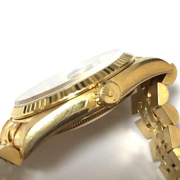 【ROLEX】ロレックス デイトジャスト 16238 K18YG イエローゴールド 18金 金無垢 自動巻腕時計 メンズ E番 1990~1991年 直接取引値下可_画像5