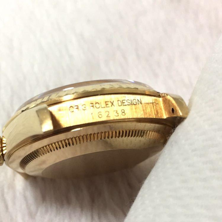 【ROLEX】ロレックス デイトジャスト 16238 K18YG イエローゴールド 18金 金無垢 自動巻腕時計 メンズ E番 1990~1991年 直接取引値下可_画像7