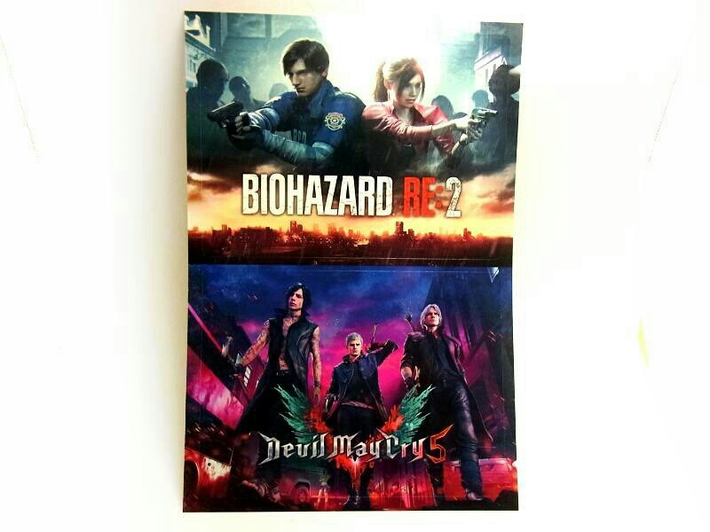 【非売品!】『Devil May Cry5 デビルメイクライ5』&『BIOHAZARD RE:2 バイオハザード2』CAPCOM カプコン 特製ステッカー PS4 DMC_画像1