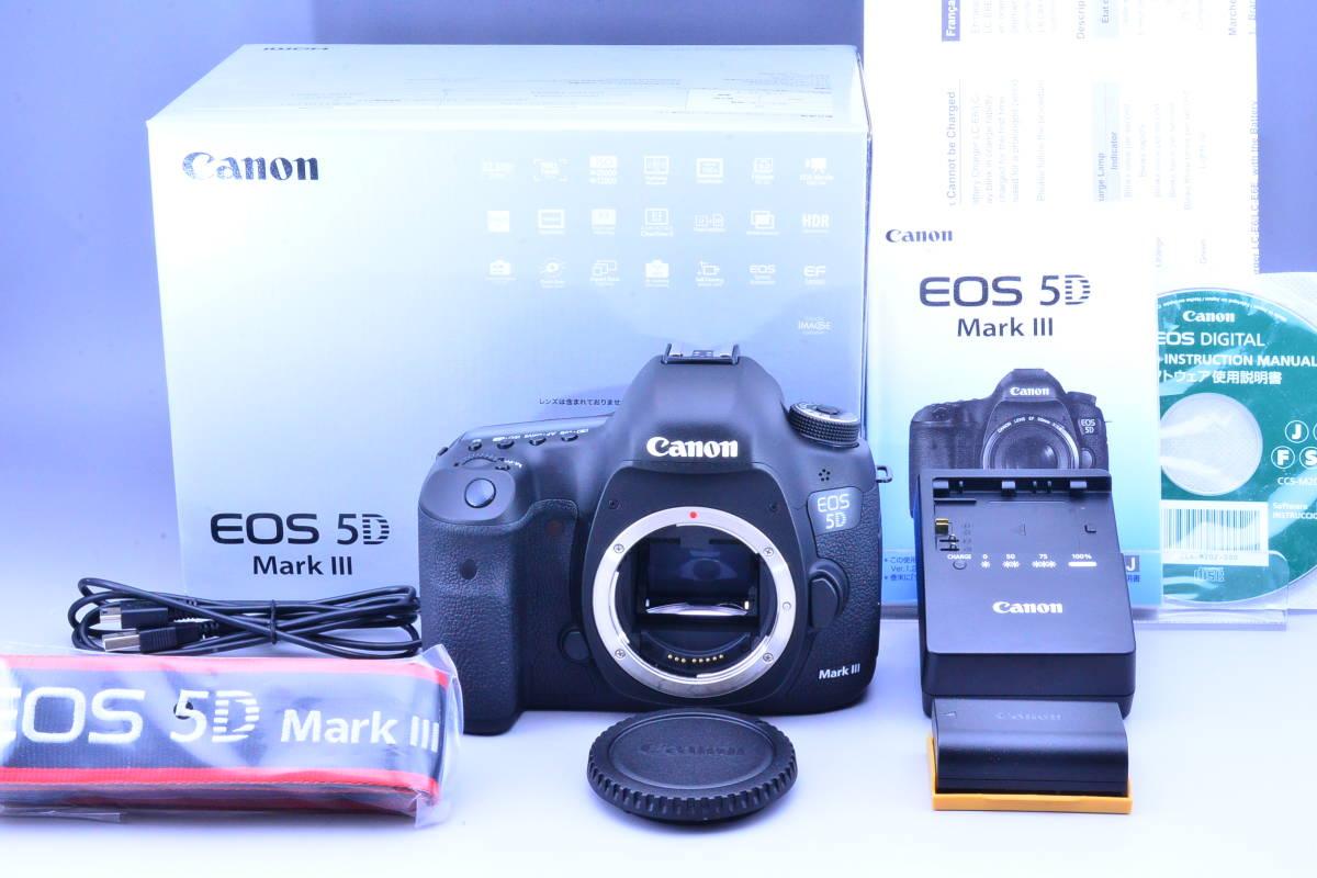 【S数5600回・新品同様】 CANON キヤノン EOS 5D Mark III マーク 3 ボディ 元箱 ★ストラップ未使用!新品と遜色ないコンディションです!