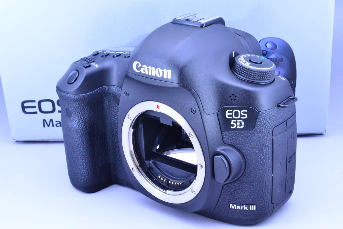 【S数5600回・新品同様】 CANON キヤノン EOS 5D Mark III マーク 3 ボディ 元箱 ★ストラップ未使用!新品と遜色ないコンディションです!_画像2