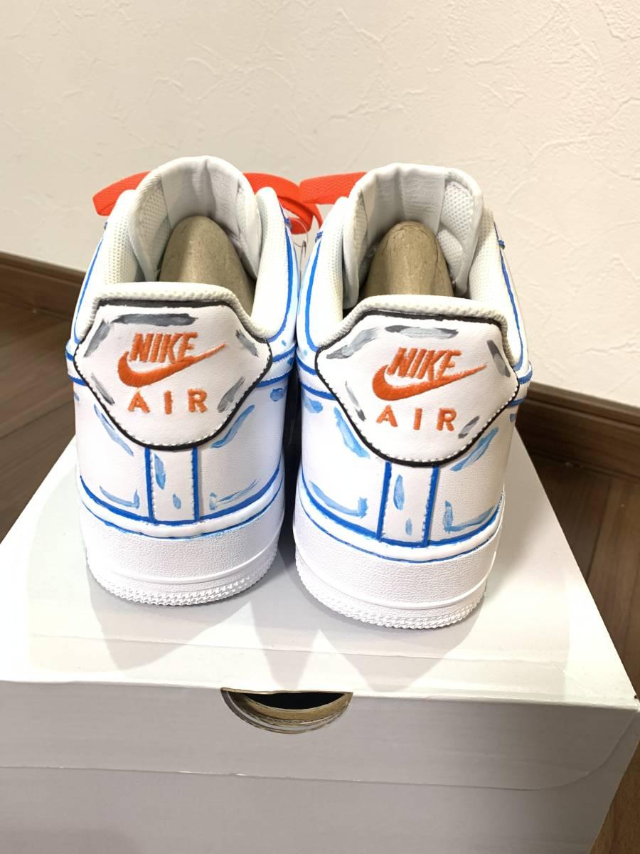 新作 オフホワイトモデル Nike(ナイキ) Air Force 1 White/White エアフォース1 ホワイト/27.5cm カスタム 自作 ハンドメイド_画像5