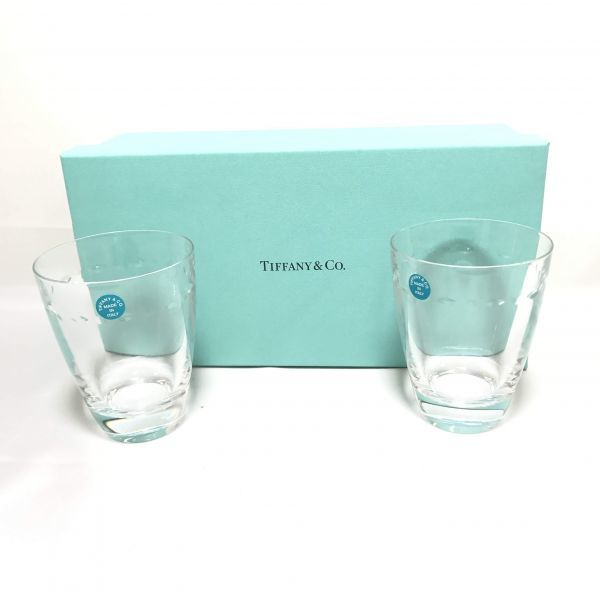 TIFFANY&Co ティファニー ペアグラス コップ カップ グラス グラマシー ガラス 食器 箱付_画像1