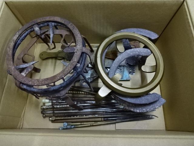 火鉢道具セット 五徳 火箸 灰ならし 100サイズ 真鍮・鉄など お茶道具