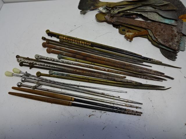火鉢道具セット 五徳 火箸 灰ならし 100サイズ 真鍮・鉄など お茶道具_画像5