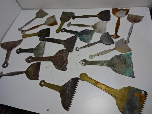 火鉢道具セット 五徳 火箸 灰ならし 100サイズ 真鍮・鉄など お茶道具_画像6