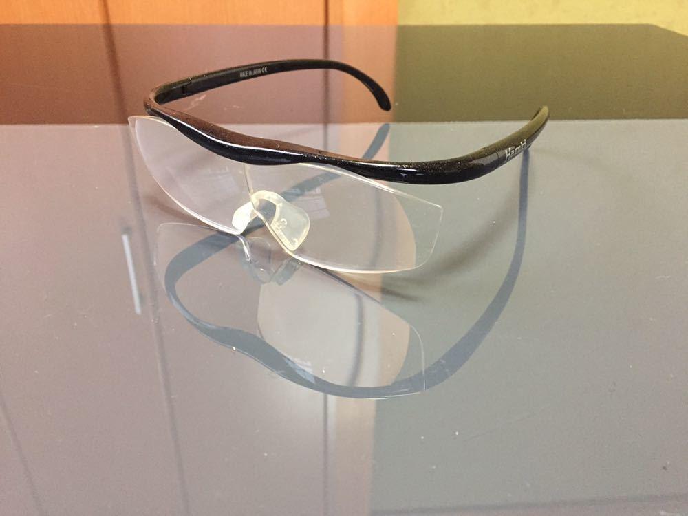 Hazuki ハズキルーペ 1.6倍 拡大鏡 ルーペ 老眼鏡 ブルーライトカット メガネ 中古