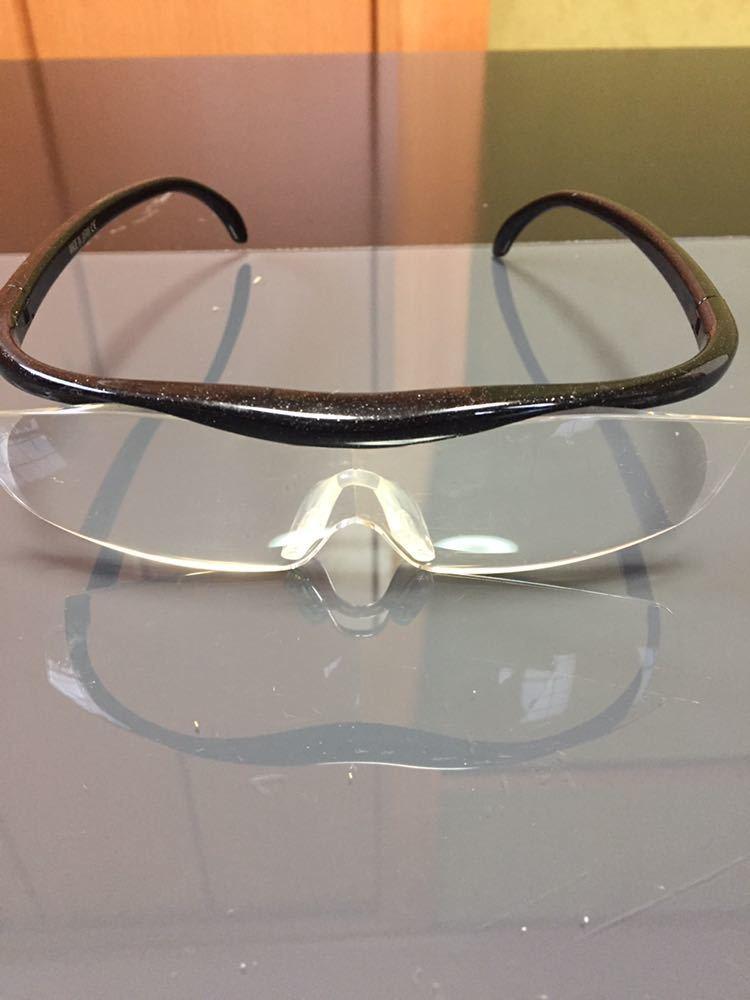Hazuki ハズキルーペ 1.6倍 拡大鏡 ルーペ 老眼鏡 ブルーライトカット メガネ 中古_画像2