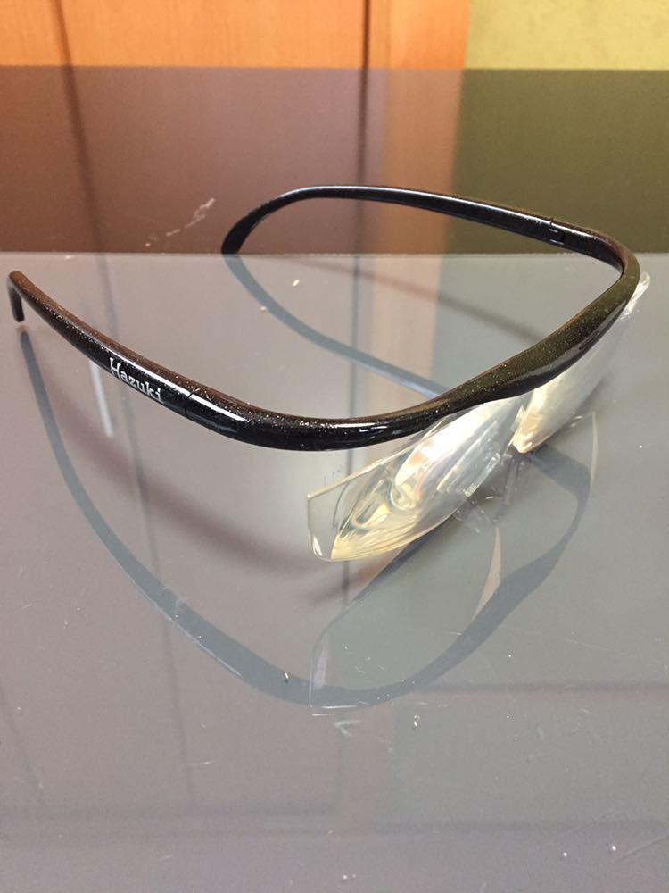 Hazuki ハズキルーペ 1.6倍 拡大鏡 ルーペ 老眼鏡 ブルーライトカット メガネ 中古_画像3