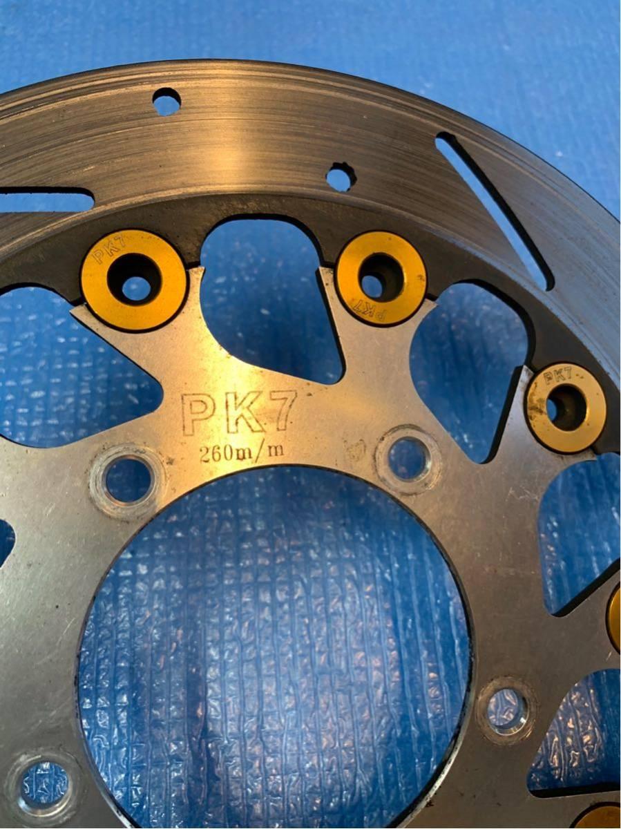 ★500スタ シグナスX 4型 PK7製 260mm ディスクローター SEA5J/SED8J (検 シグナス SE12J SE44J アドレス ズーマー PCX_画像3