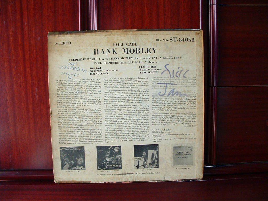 【オリジナル入手困難】HANK MOBLEY / Roll Call (DG,63rd,RVG,Ear,Blue Note)_画像2