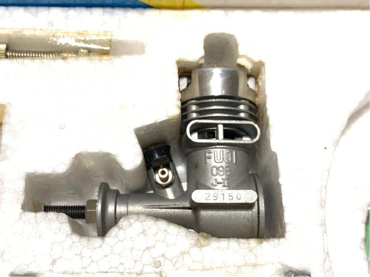 絶版 希少 未組立 メトロ METRO Uコントロール オールセット チヨダ ベビースクラッパー Uコン Fuji099J-Ⅱ 飛行機 エンジン 付き キット_画像2