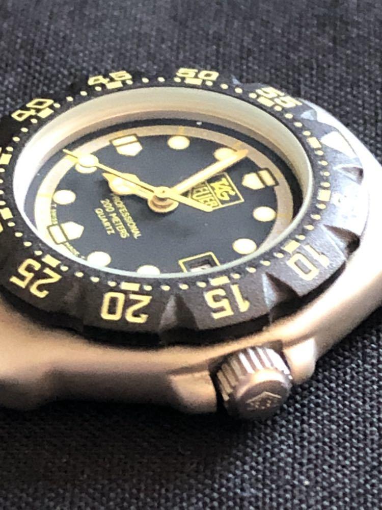 新品未使用 TAG HEUERタグホイヤー フォーミュラ1 プロフェッショナル200m 376.508 レディースダイバー クオーツ式腕時計 80~90年代?_画像3