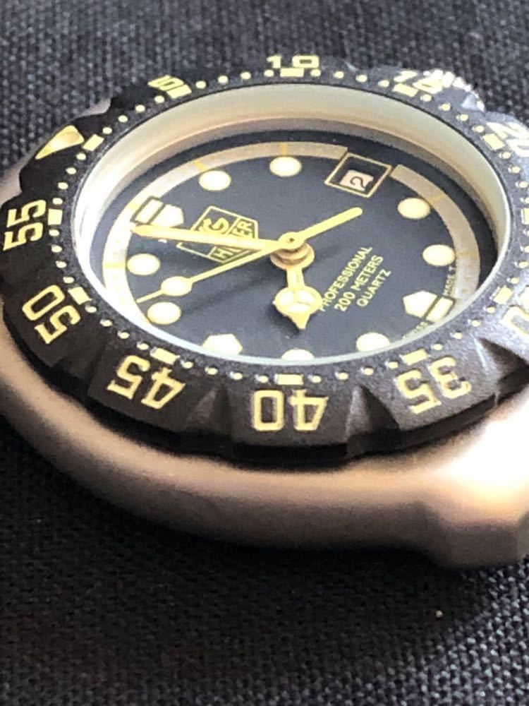 新品未使用 TAG HEUERタグホイヤー フォーミュラ1 プロフェッショナル200m 376.508 レディースダイバー クオーツ式腕時計 80~90年代?_画像4