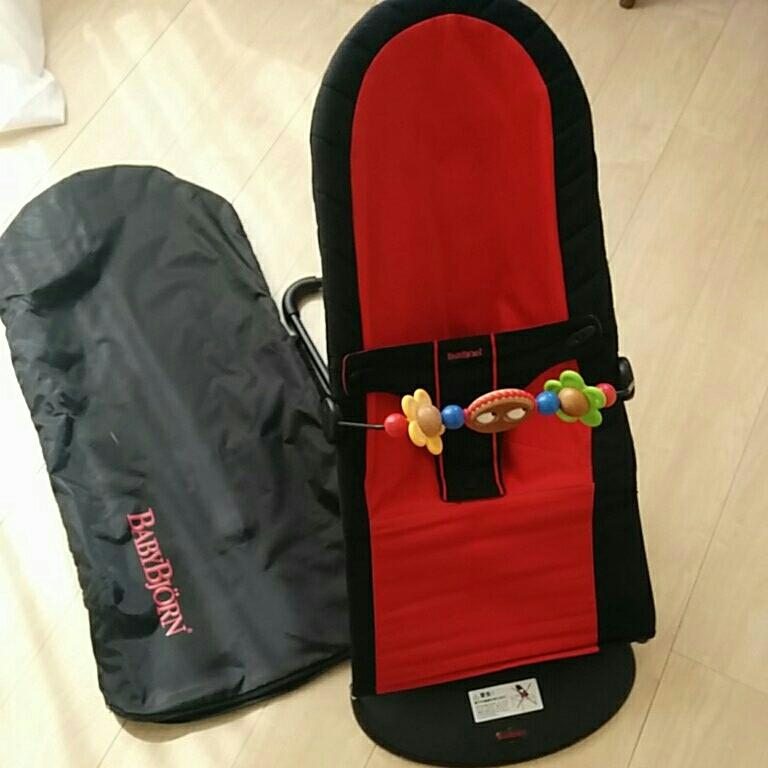 ベビービョルン バウンサー 状態良 おもちゃ付き 高さ調節可 バッグ付き 持ち運び便利_画像1