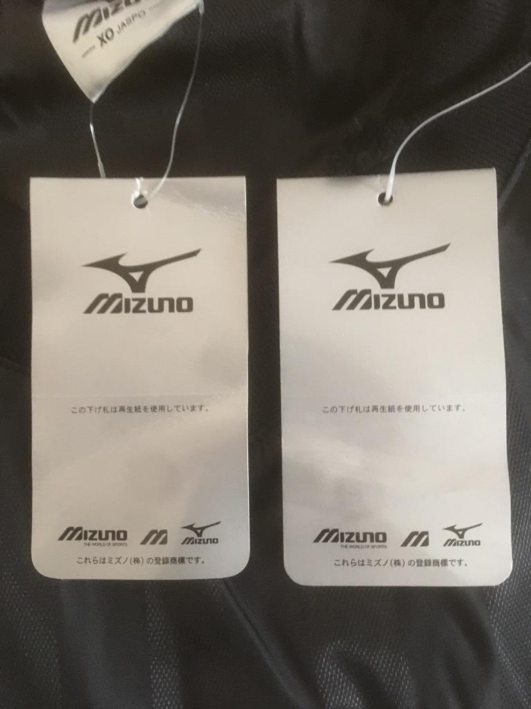 新品 ビッグサイズ MIZUNO ミズノ バックプリント付き ウインドブレーカー ピステ上下 セットアップ XO 黒×白_画像6