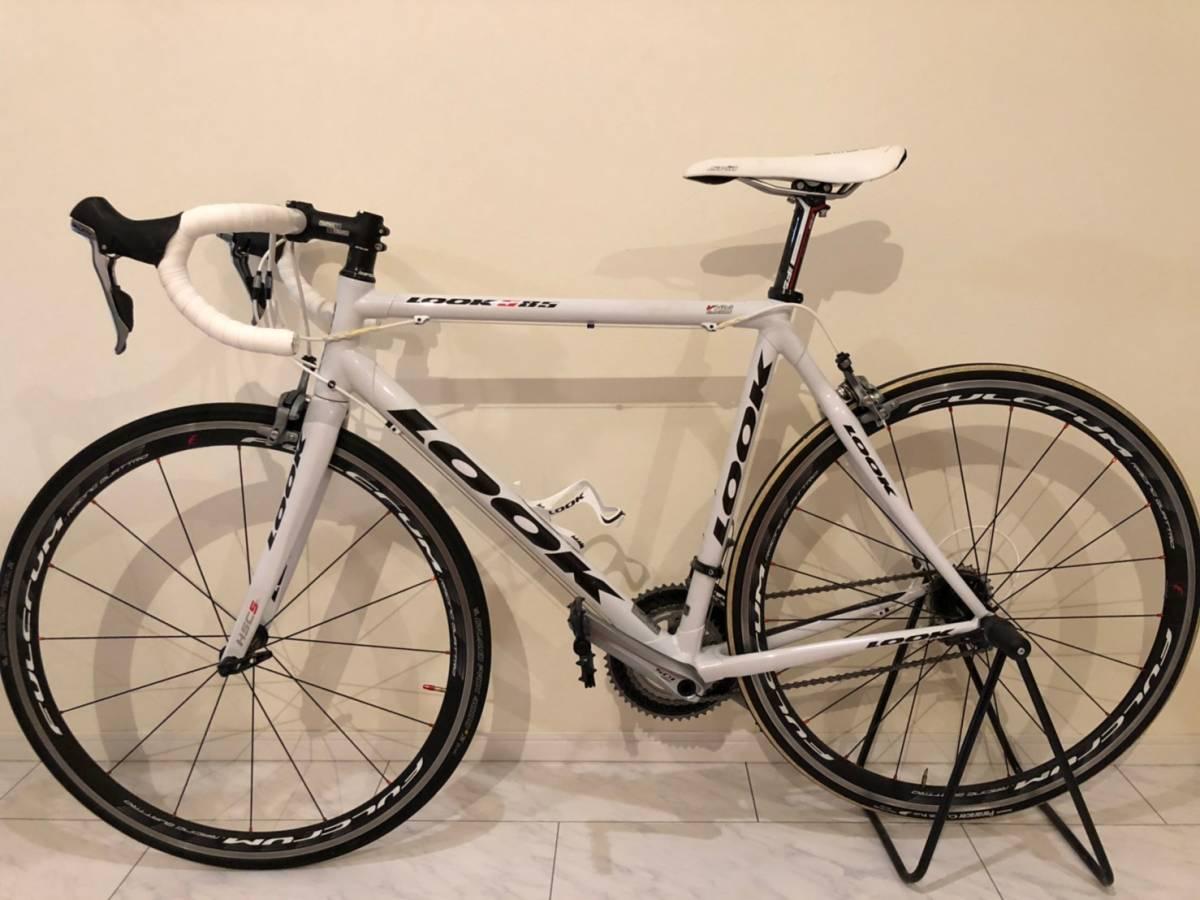 LOOK 585 ホワイト Lサイズ FULCRUM RACING QUATTRO 105+ULTEGRA ロードバイク ルック 白 自転車 ロード_画像2