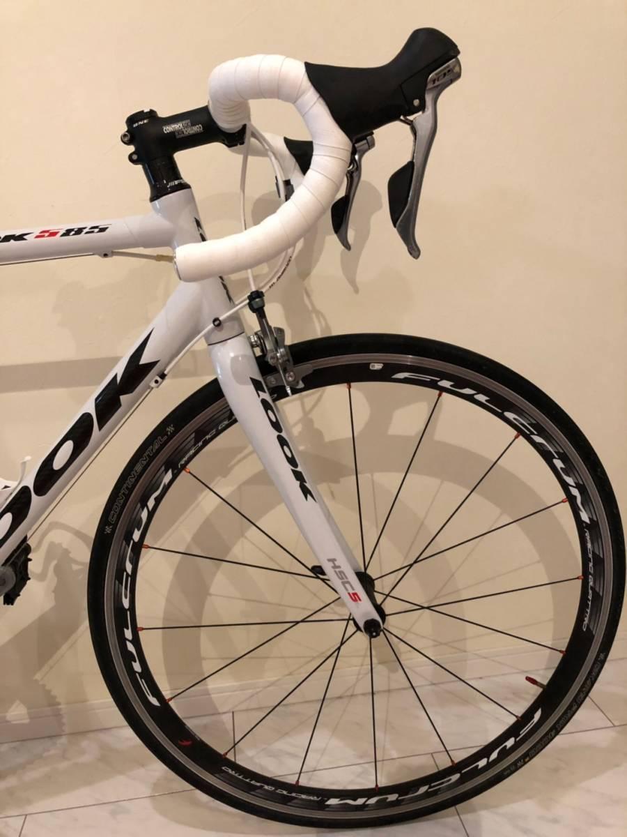 LOOK 585 ホワイト Lサイズ FULCRUM RACING QUATTRO 105+ULTEGRA ロードバイク ルック 白 自転車 ロード_画像4