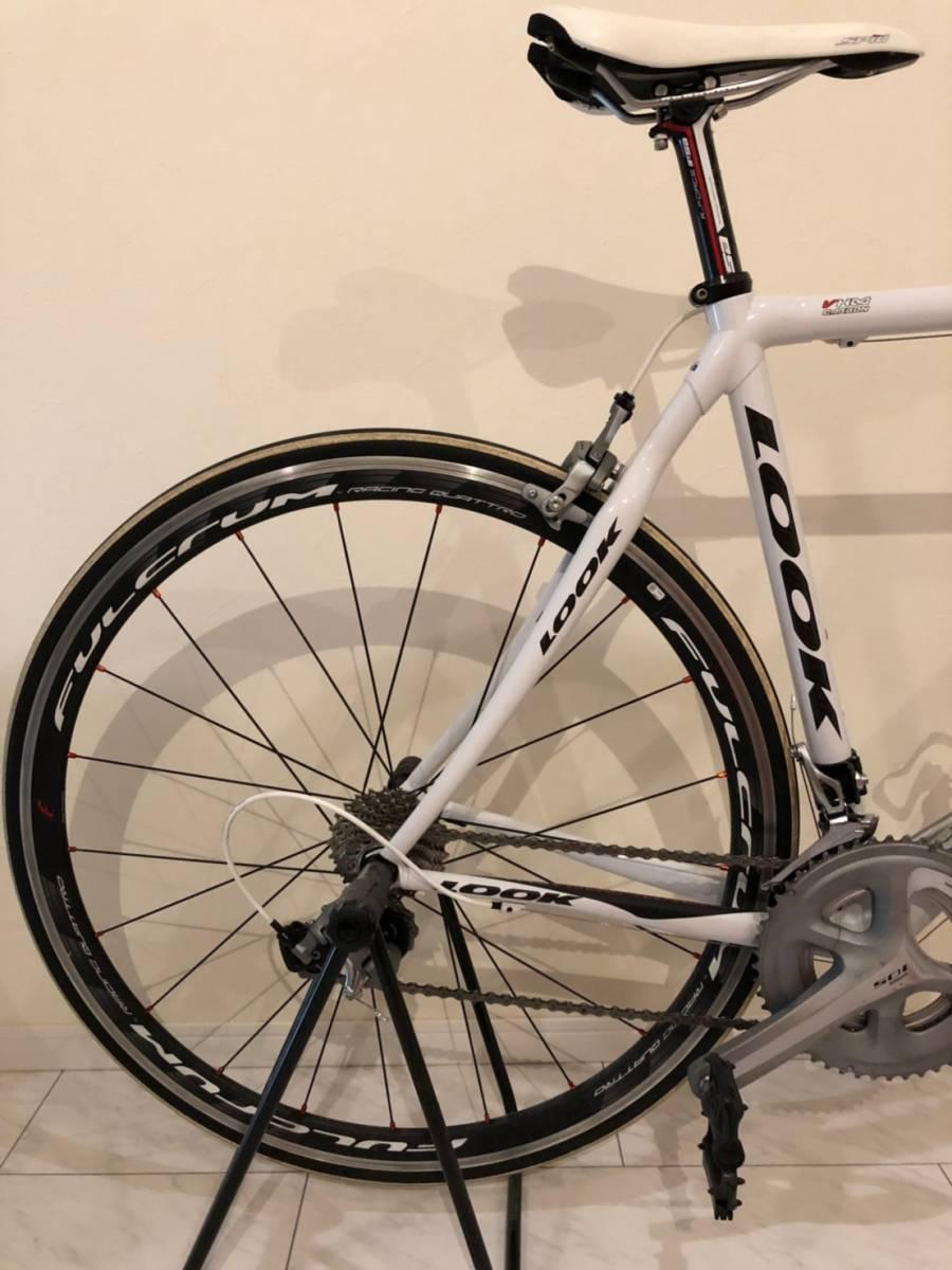 LOOK 585 ホワイト Lサイズ FULCRUM RACING QUATTRO 105+ULTEGRA ロードバイク ルック 白 自転車 ロード_画像3