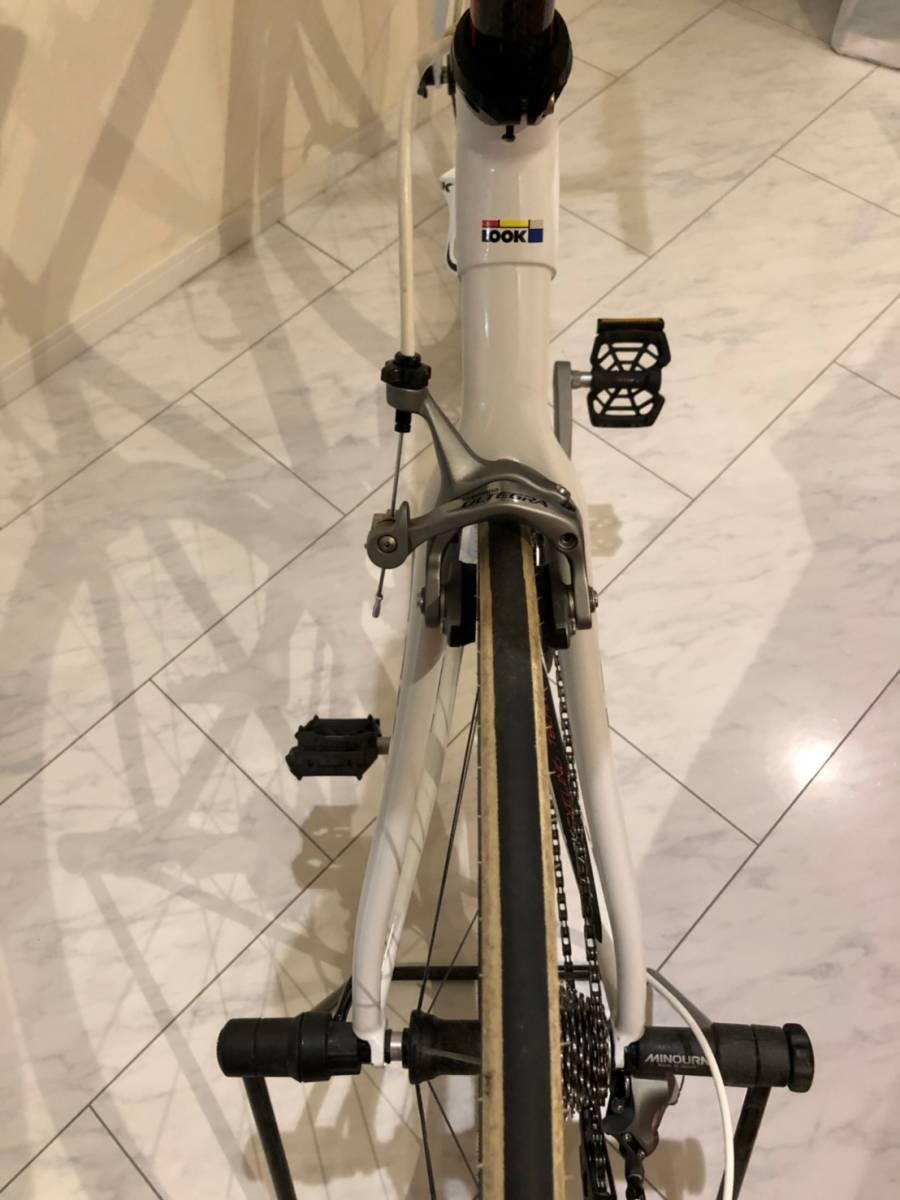 LOOK 585 ホワイト Lサイズ FULCRUM RACING QUATTRO 105+ULTEGRA ロードバイク ルック 白 自転車 ロード_画像8