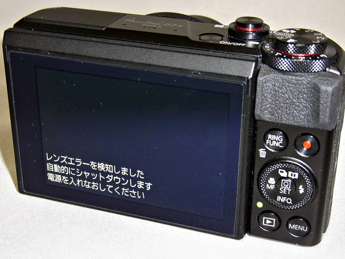 キャノン CANON デジタルカメラ PowerShot G7X MarkⅡ (ジャンク)_画像5