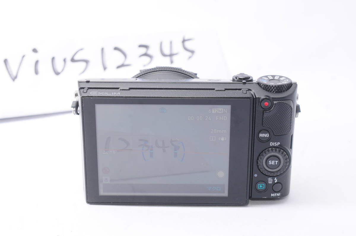 #H27R CASIO EXLIM EX-100 HS デジタルカメラ カシオ_画像7
