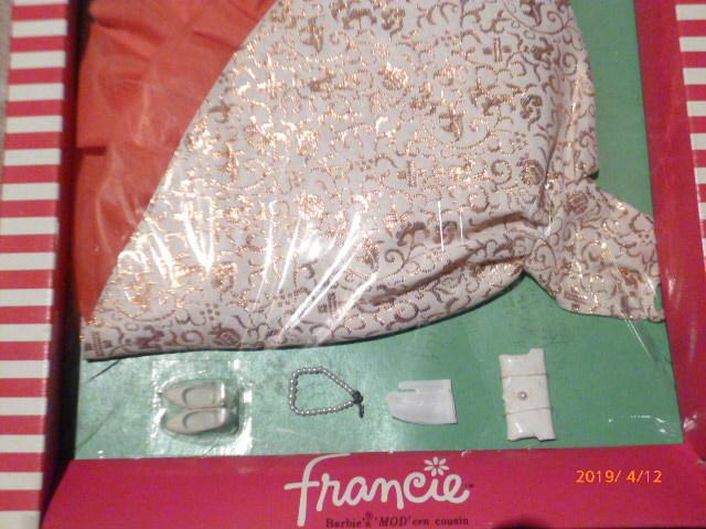 ヴィンテージバービーのいとこ フランシーのドレス(サイズはバービーと同じです)_画像4