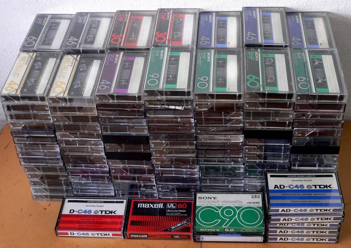 ★中古カセット テープ - 200本 / TDK、 SONY、maxell、他★