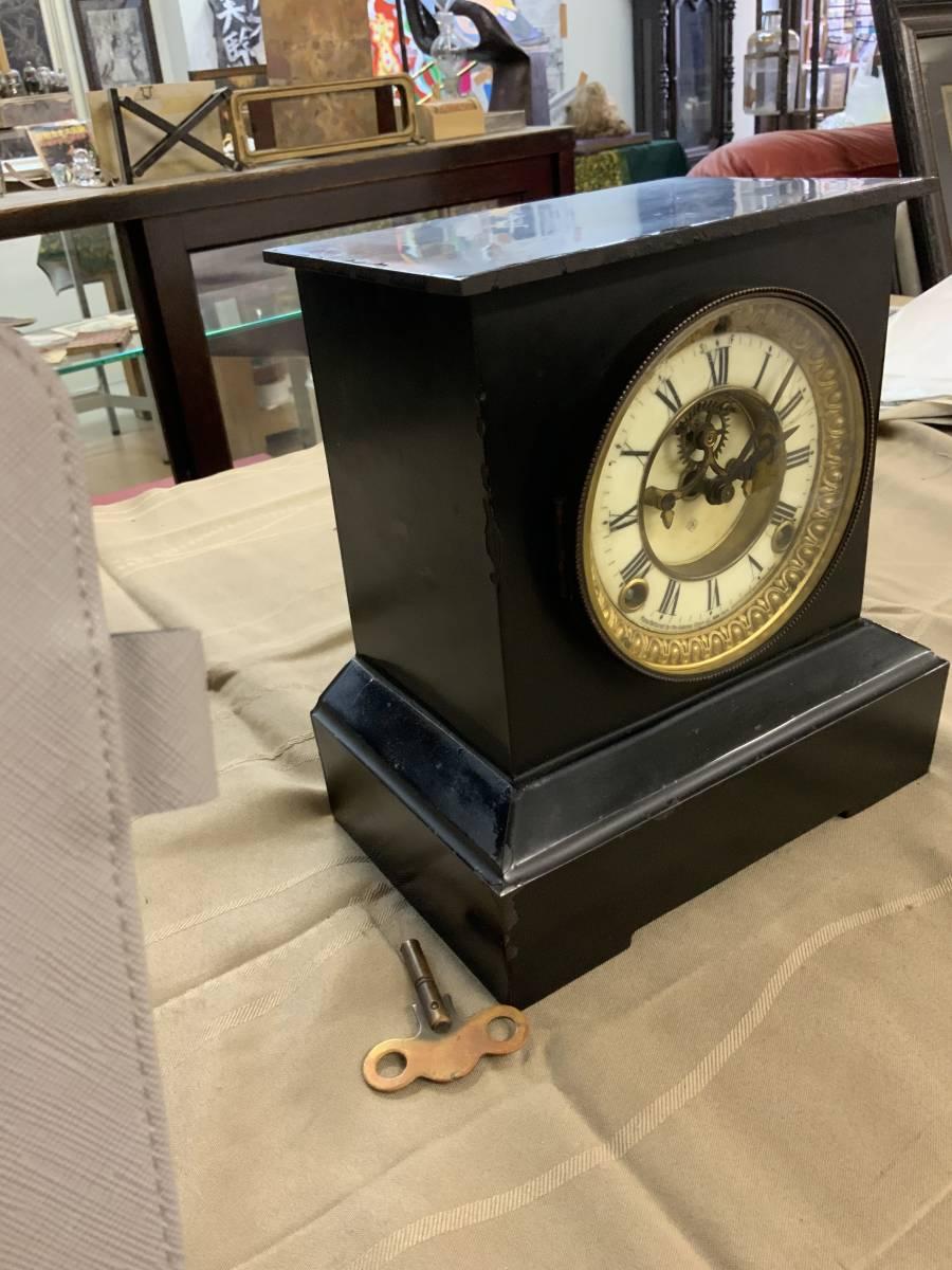 ■ USA アンソニア 振り子式 ボンボン鉄枠置時計 完動品_画像3