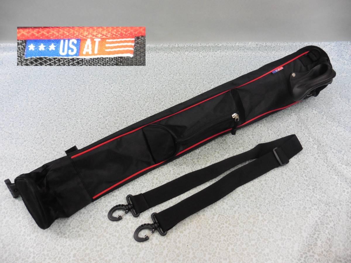 ゴルフ用品 US AT クラブケース 練習用 セルフ スタンド型 黒 USED S100