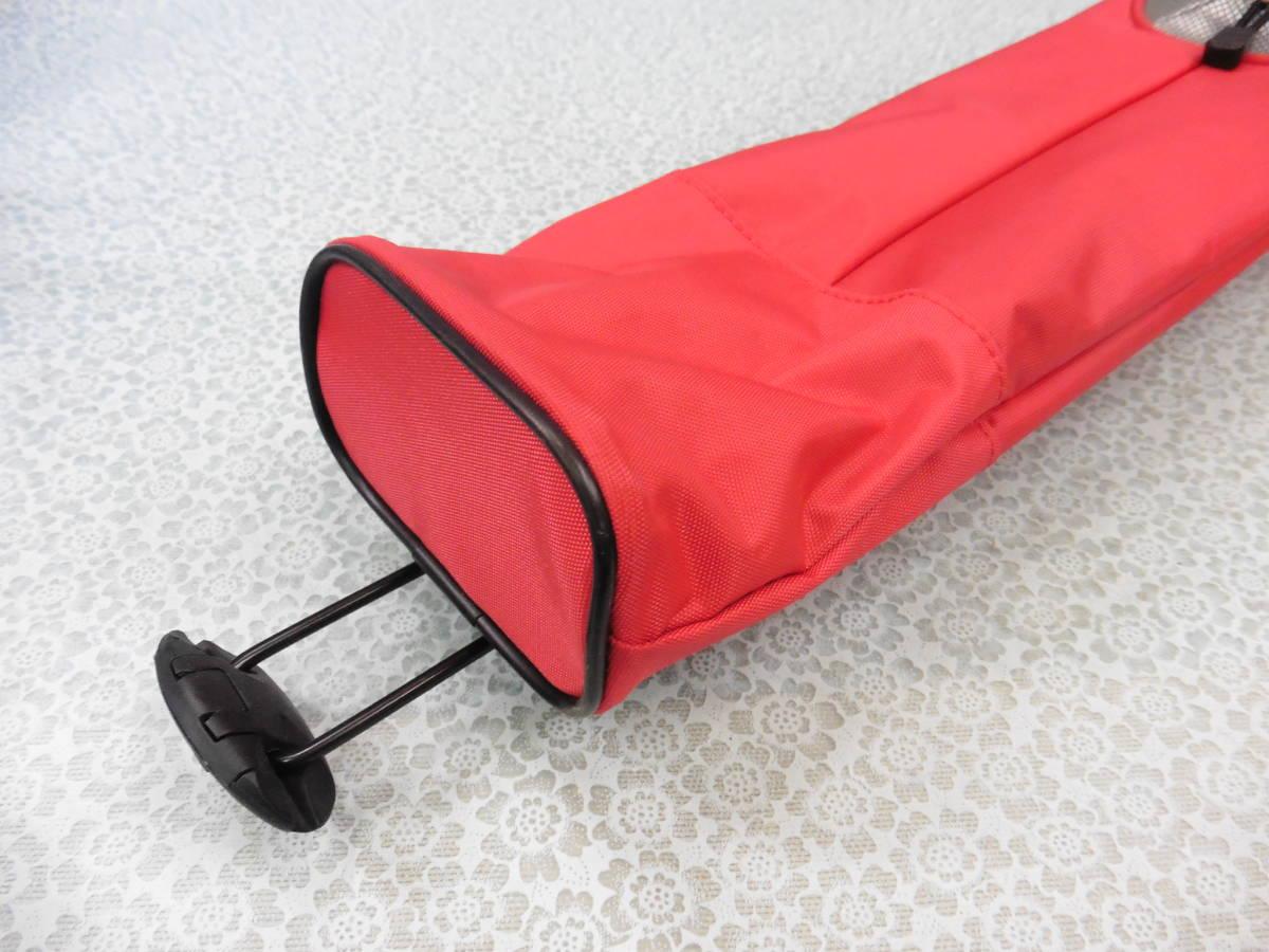 ゴルフ用品 Glove Holder クラブケース 練習用 セルフ スタンド型 赤 USED S100 _画像5