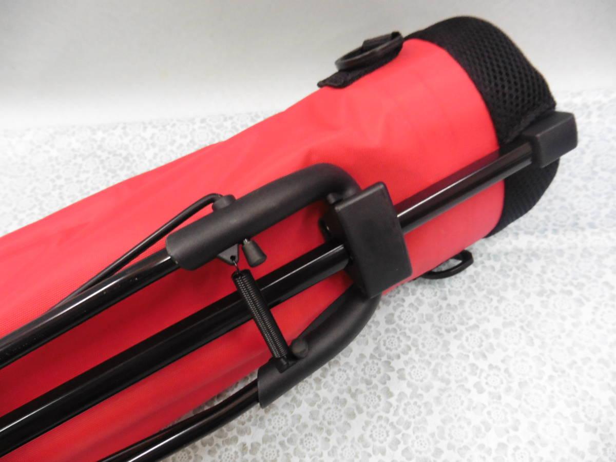 ゴルフ用品 Glove Holder クラブケース 練習用 セルフ スタンド型 赤 USED S100 _画像6