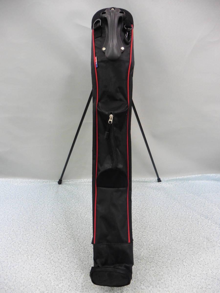 ゴルフ用品 US AT クラブケース 練習用 セルフ スタンド型 黒 USED S100 _画像9