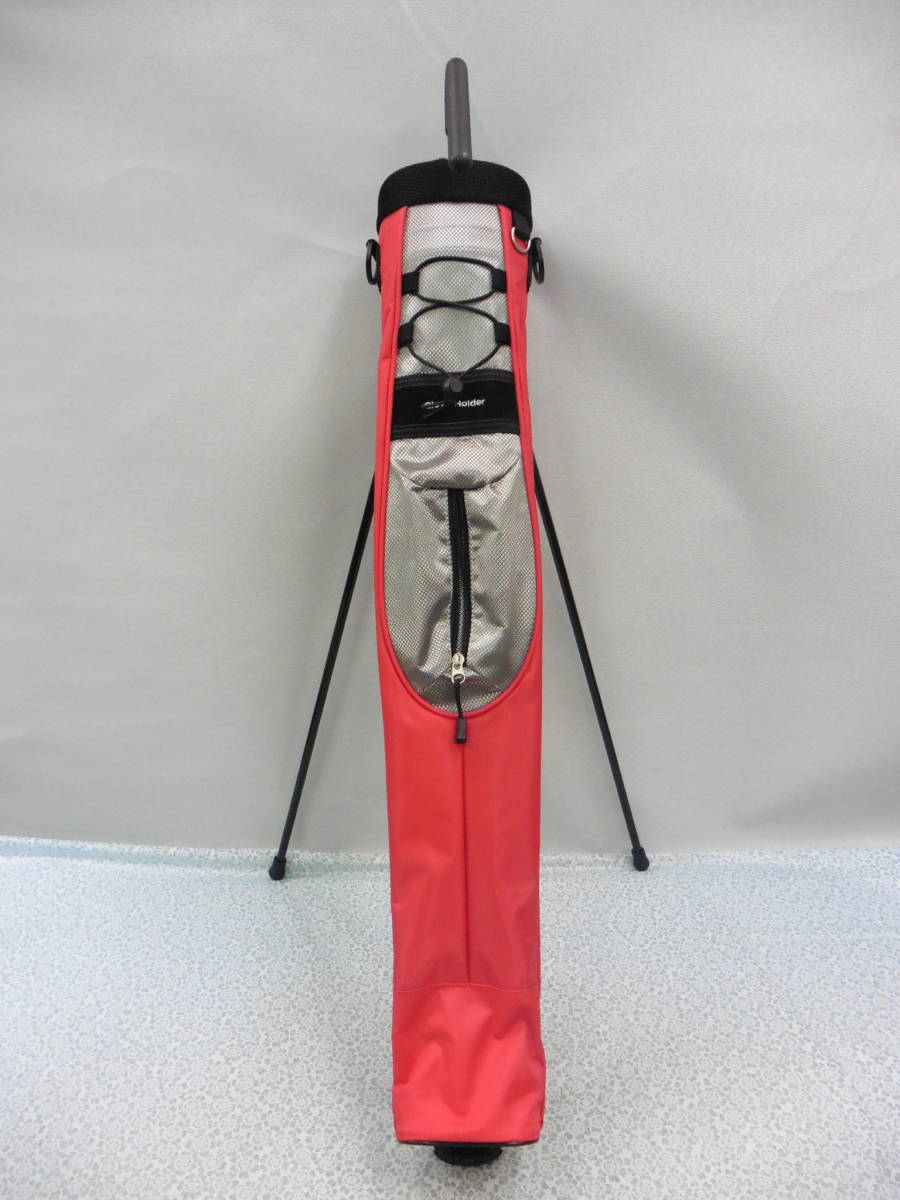 ゴルフ用品 Glove Holder クラブケース 練習用 セルフ スタンド型 赤 USED S100 _画像9