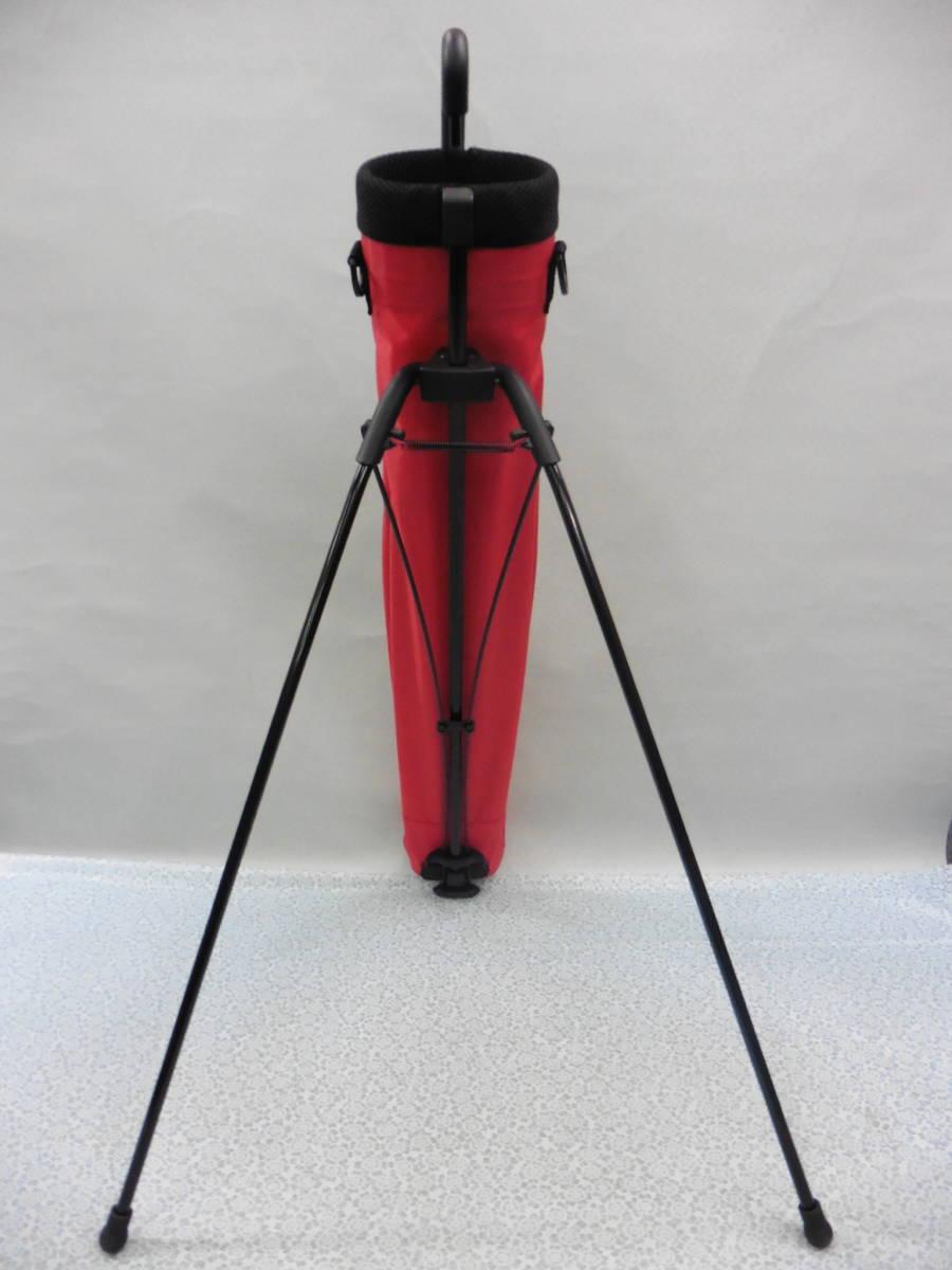 ゴルフ用品 Glove Holder クラブケース 練習用 セルフ スタンド型 赤 USED S100 _画像10