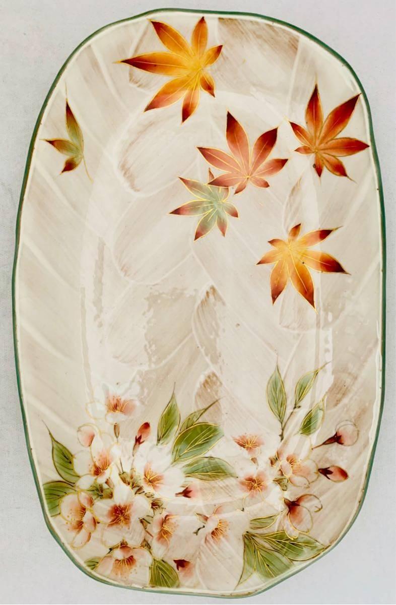 清水焼 京焼 土渕 陶あん 紅葉 桜 飾り皿中皿 器