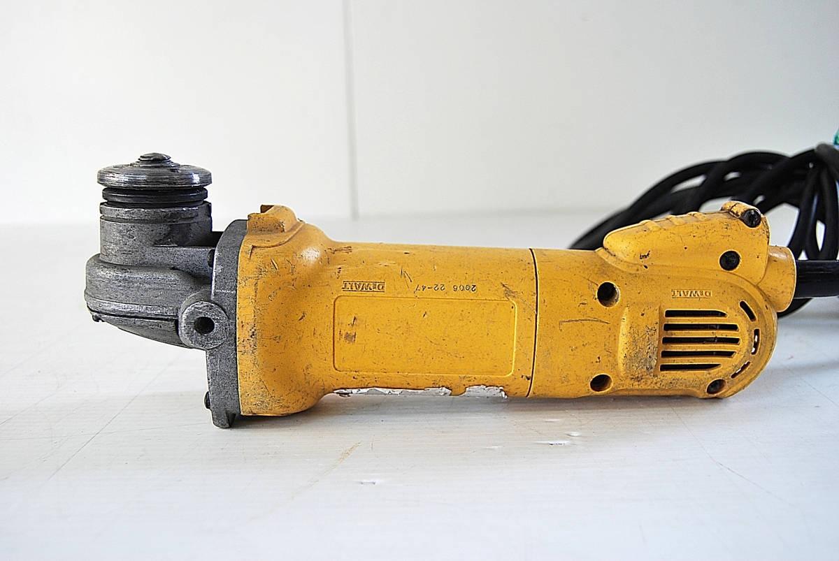 ディスクグラインダー サンダー DEWALT デウォルト D28800 サンダー 切断機 研磨機 掘削 電動工具 ツール 自動車整備機械工具 確認済_画像5