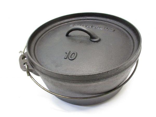 ♪サウスフィールド SOUTHFIELD ダッチオーブン 10インチ 五徳付き BBQ キャンプ アウトドア 42043A♪_画像2
